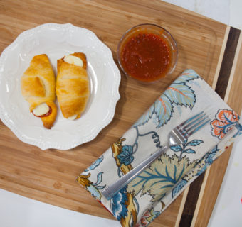 Pepperoni and Cheese Pizza Crescents Snacks