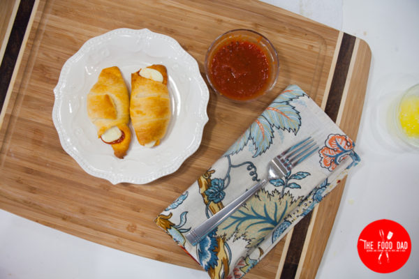 Pepperoni and Cheese Crescents Snacks-the-food-dad-eating