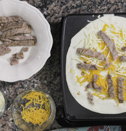 Easy Kids Steak Quesadilla
